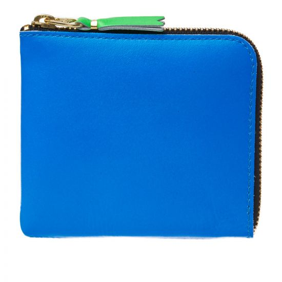 Comme des Garçons Super Fluo Corner Zip Wallet SA3100SF Orange/Blue