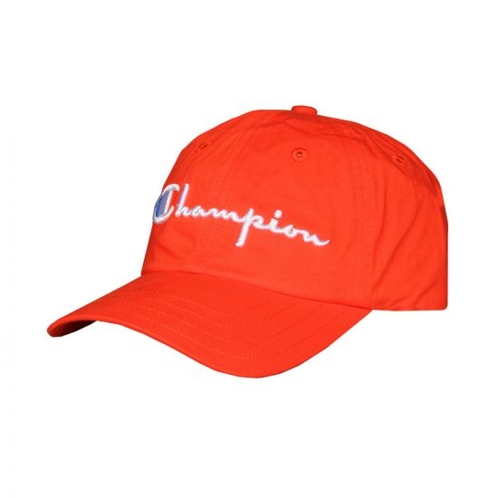 Champion Reverse Weave Script Logo Cap 804260 RS033 FER Red