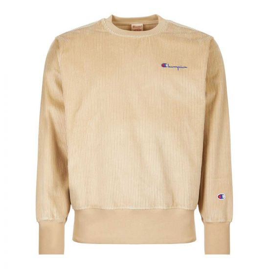Champion Corduroy Sweatshirt 213690|MS024|SPG  In Beige At Aphrodite1994.