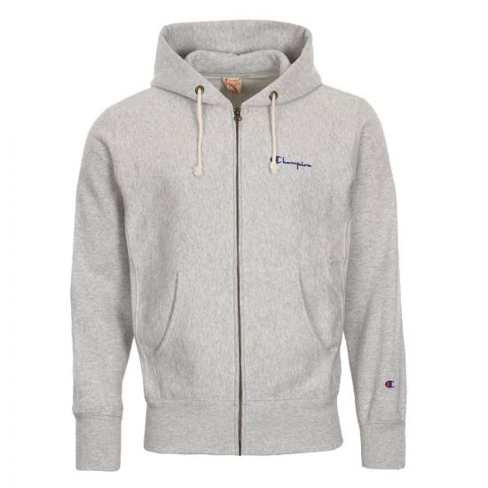 champion hoodie full zip 212579 EM004 LOXGM Grey