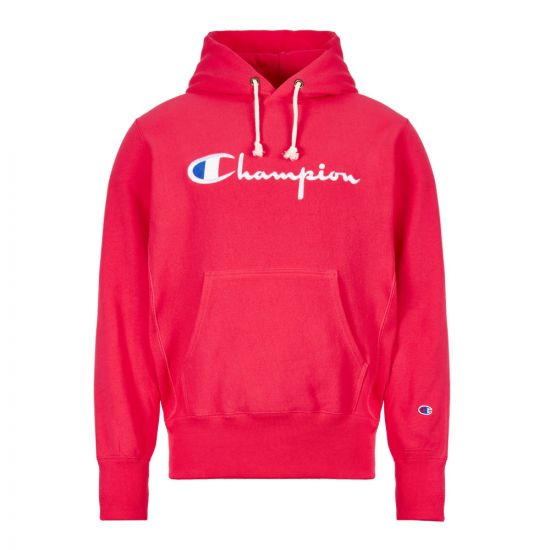 Champion Hoodie Script Logo 212574 PS061 AZA Pink