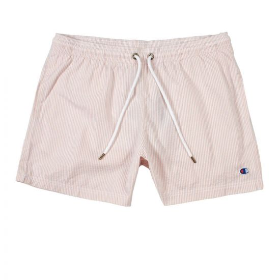 champion swim shorts 213390 PM003 PRA Pink / White