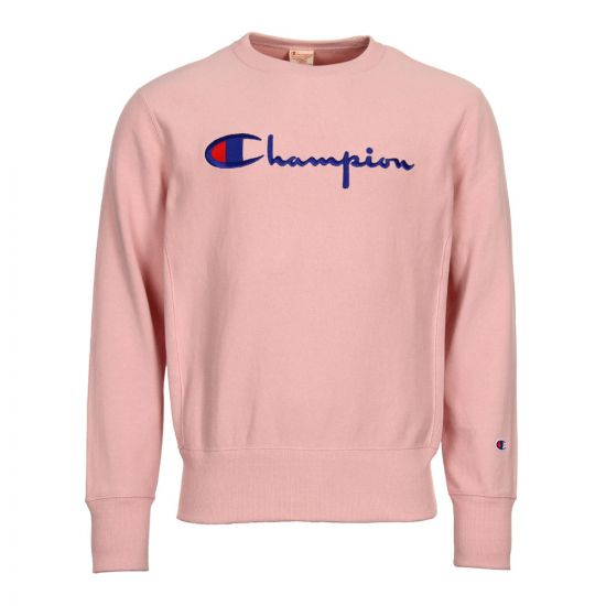 Champion Sweatshirt Reverse Weave Script Logo 210975 PS066 Pink