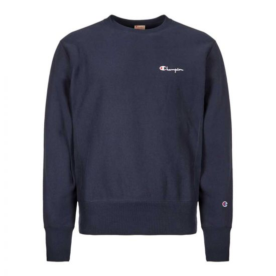 Champion Sweatshirt 213603|BS501|NNY In Logo Navy At Aphrodite Clothing