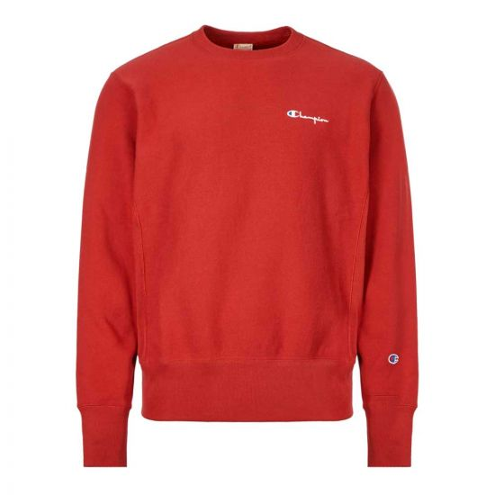 Champion Sweatshirt 213603 RS517 RDD In Red At Aphrodite Clothing