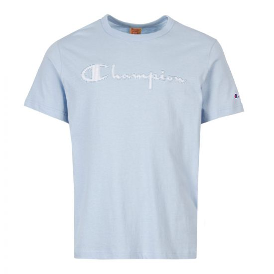 Champion T-Shirt Script Logo 213081 BS009 Blue