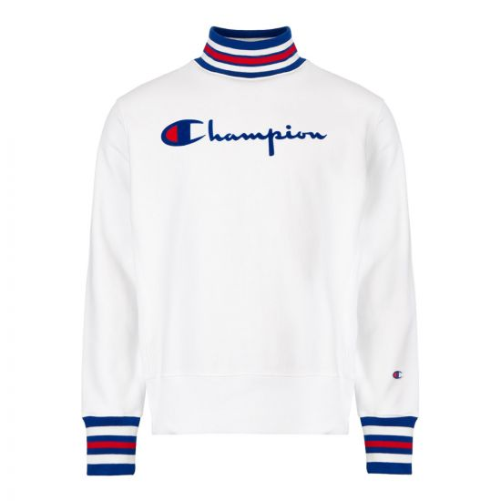 Champion Polo Neck Sweatshirt 213968|WW001|WHT In White At Aphrodite194