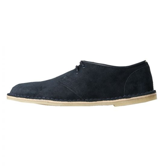 Clarks Jink Shoes Navy Suede