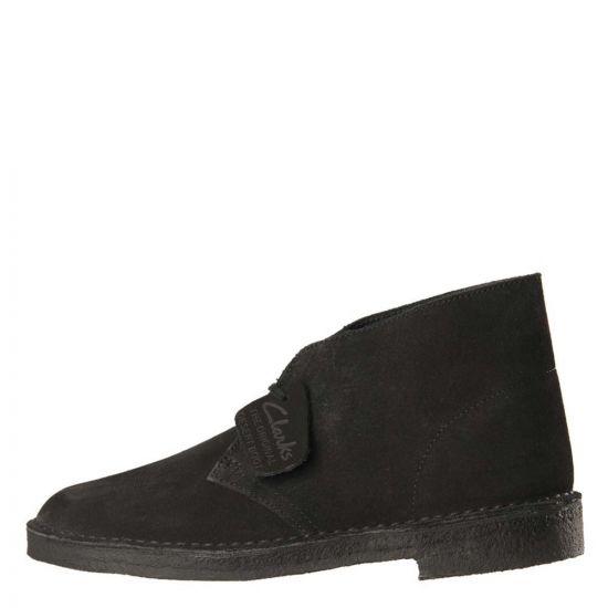 Clarks Desert Boots Black Suede