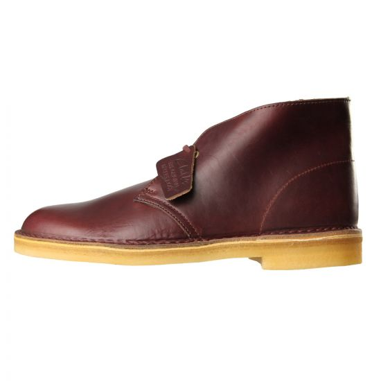 Clarks Desert Boots Wine Leather 261094417