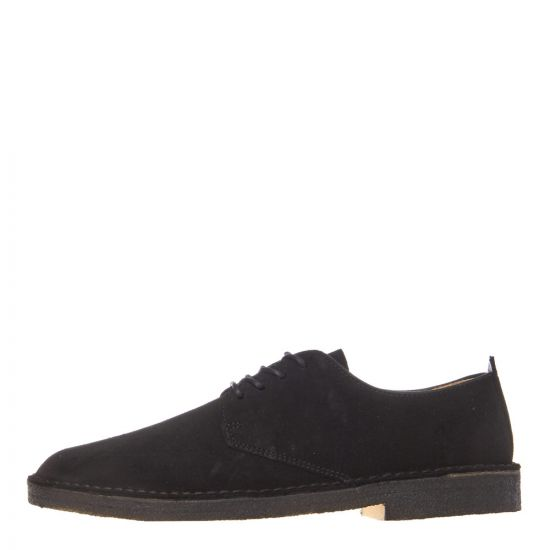 Clarks Originals Desert London Shoes 26107883 Black Suede
