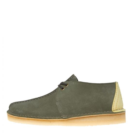 Clarks Originals Desert Trek Shoes 26139210 Sage Suede
