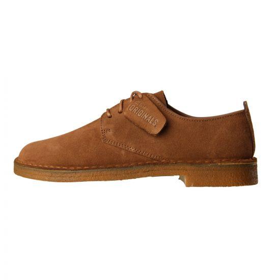Clarks London Desert Shoes Cola Suede