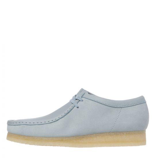 Clarks Originals Wallabee Shoes - Light Blue 22238CP -1