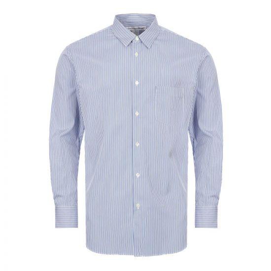 Comme des Garcons Pinstripe Shirt | Blue