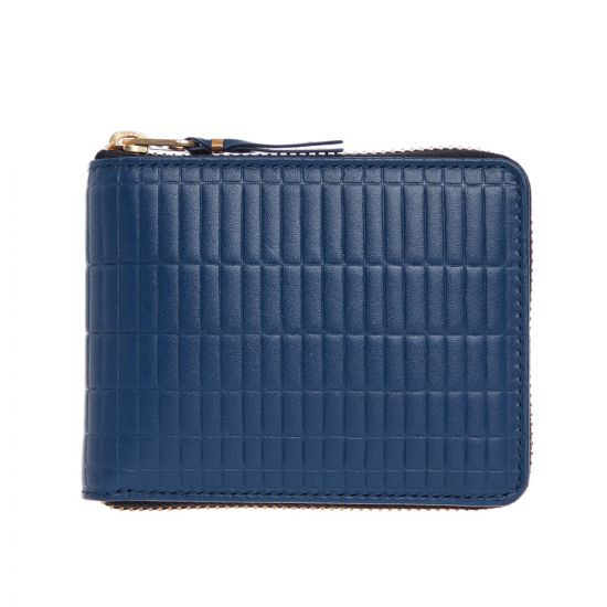 Comme Des Garcons Brick Line Wallet SA7100BK In Blue At Aphrodite Clothing