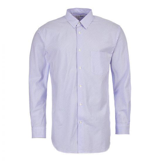 comme des garcons shirt woven shirt S2BSA 1 blue stripe