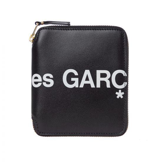 Comme Des Gacons Logo Wallet SA2100HL 1 In Black At Aprodite Clothing