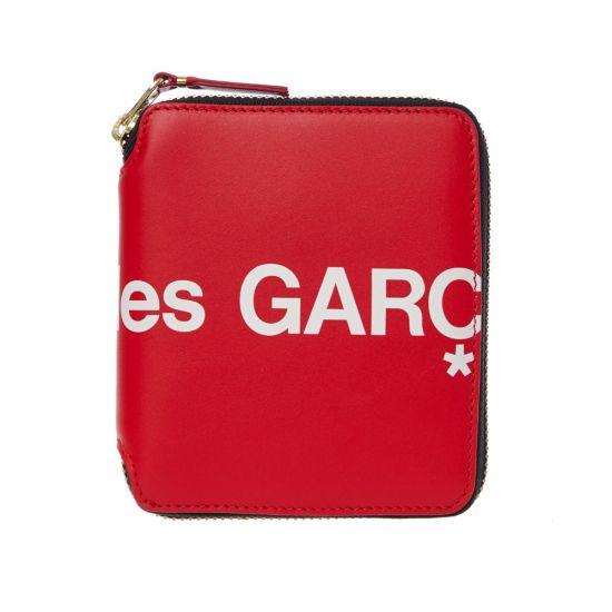 Comme des Garcons Logo Wallet SA2100HL|2 InRed At Aphrodite Clothing