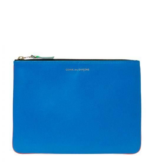 Comme des Garcons Wallets Pouch – Orange / Blue 21366CP -1