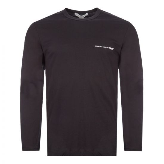 comme des garcons shirt long sleeve t-shirt | S28118 1 black