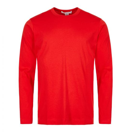 Comme des Garcons SHIRT Long Sleeve T-Shirt | W27116 3 Red
