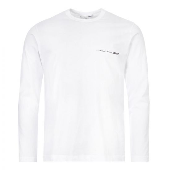 Comme des Garcons SHIRT Long Sleeve T-Shirt - White 21724CP -1