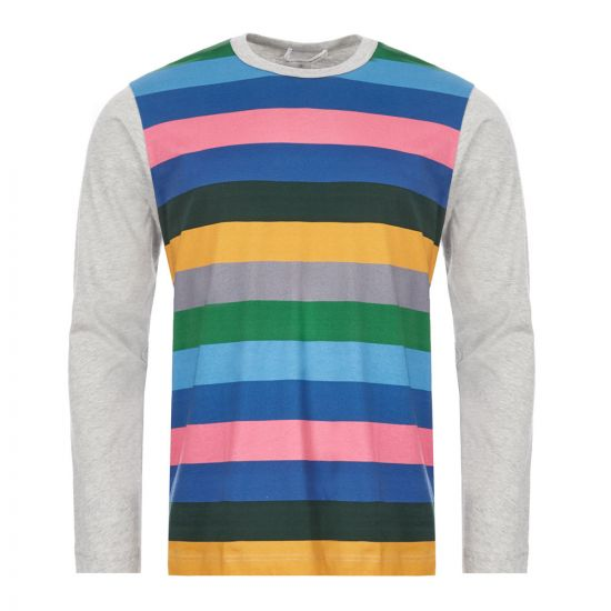 Comme des Garcons SHIRT Long Sleeve T-Shirt - Multi Stripe 21719CP -1