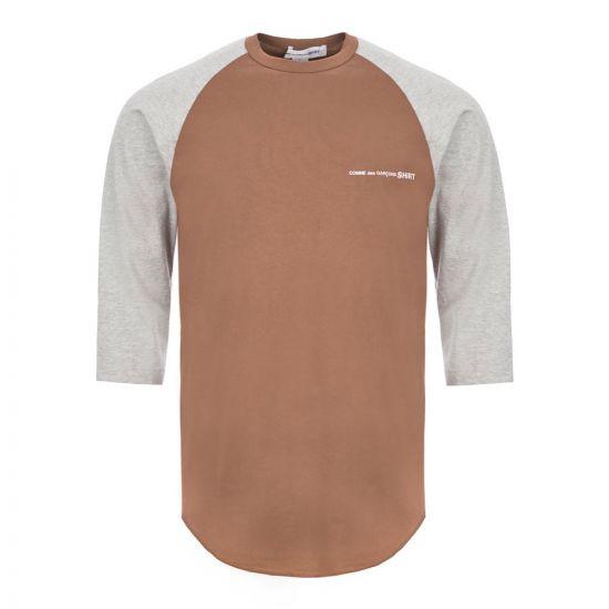 Comme des Garcons SHIRT T-Shirt - Grey / Brown 21727CP -4