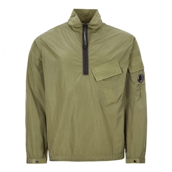 cp company overshirt chrome quarter zip MOS046A 005148G 660 khaki green