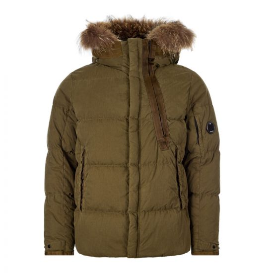 CP Company Hooded Fur Jacket MOW202A 005503G 670 Olive