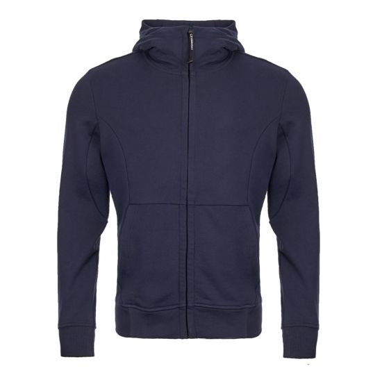 cp company goggle hoodie CMSS009A 005160W 888 navy