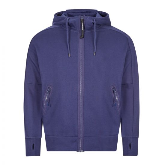 cp company goggle hoodie zip MSS012A 005160W 878 blue