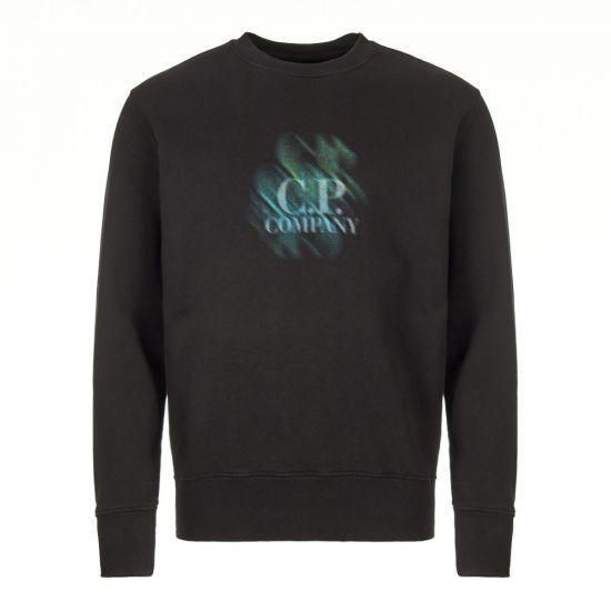 CP Company Sweatshirt Logo | MSS294A 005622W 999 Black