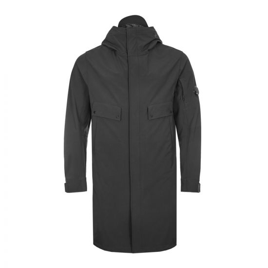 CP Company Long Jacket Recycled Shell | MOW021A 005968A 999 Black