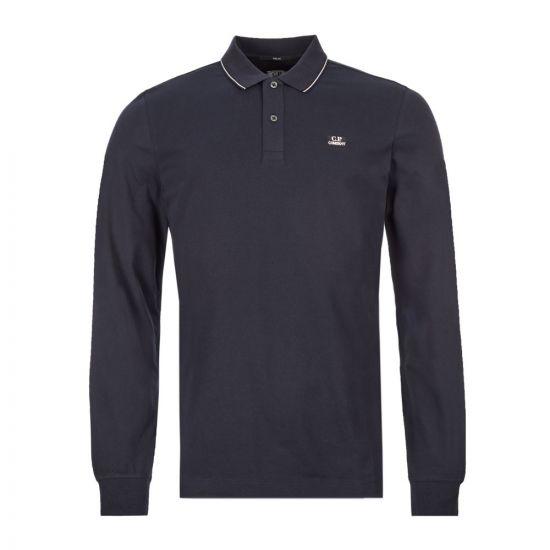 cp company long sleeve polo shirt MPL070A 005263W 888 navy