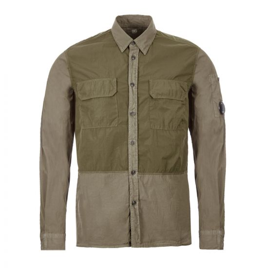 CP Company Overshirt MSH227A|000982M|661 In Dusty Olive At Aphrodite Clothing