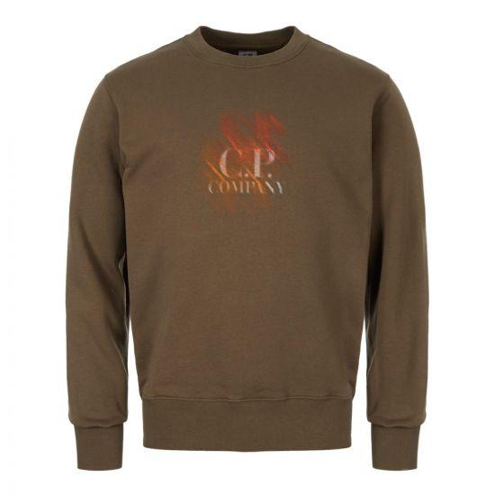 CP Company Sweatshirt | MSS294A 005622W 670 Olive Night