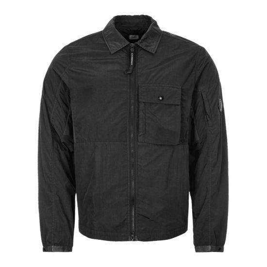 CP Company Zipped Overshirt | Black MOS073A 005148G 999 | Aphrodite