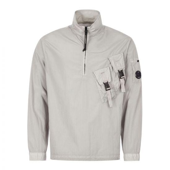 CP Company Half Zip Overshirt | Chrome MO5145A 005148G 900 | Aphrodite