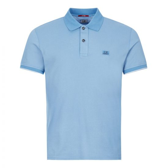 CP Company Polo Shirt | Two Tone Blue MPL052A 00973G 818 | Aphrodite