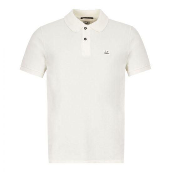 CP Company Polo Shirt Logo –Cream 21151CP -5