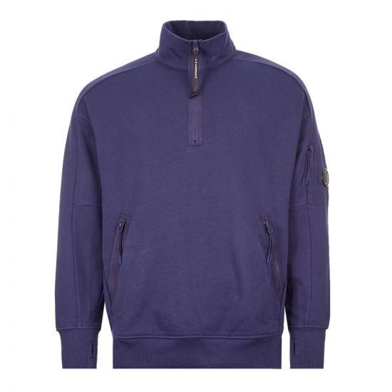 CP Company Sweatshirt Zip | MSS010A 055160W 878 Blue