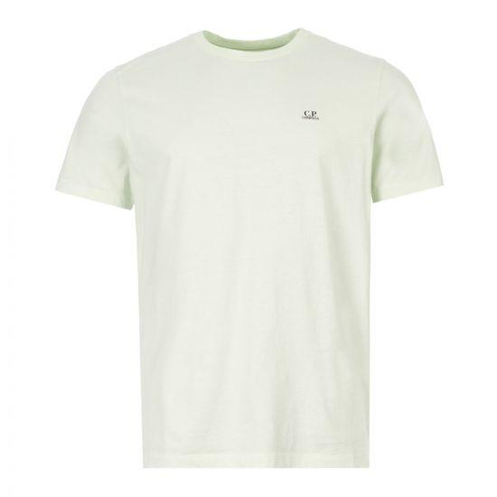 cp company t-shirt MTS291A 005100W 604 green