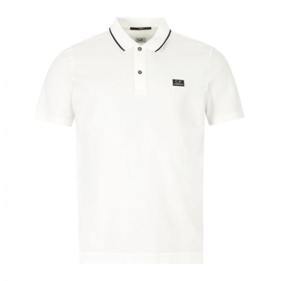 CP Company Polo Shirt - White 22057CP 0