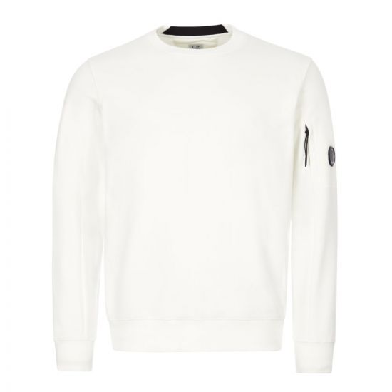 CP Company Sweatshirt | MSS039A 005086W 103 Gauze White