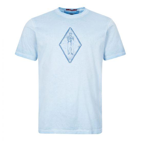 CP Company T-Shirt   MTS305A 000444S 818 Blue Diamond