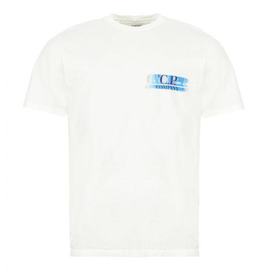 CP Company T-shirt Logo - Off White  21969CP -1
