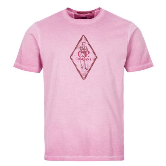 CP Company T-Shirt | MTS305A 000444S 712 Pink