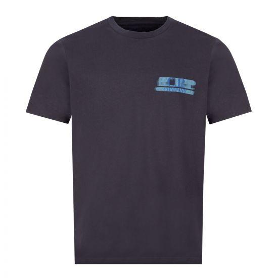 CP Company T-Shirt Logo - Navy  21970CP -1